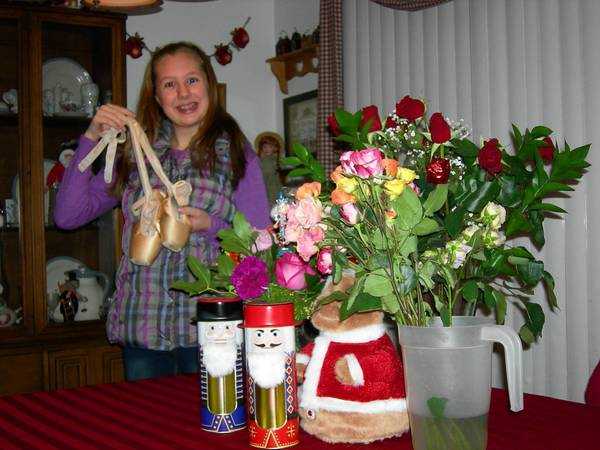 Amanda Hultmark, 12, donned ballet slippers for role as a mouse in Great Russian Nutcracker.