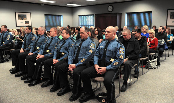 Upper Macungie Township Police Department holds a swearing-in ceremony for its officers on Friday.