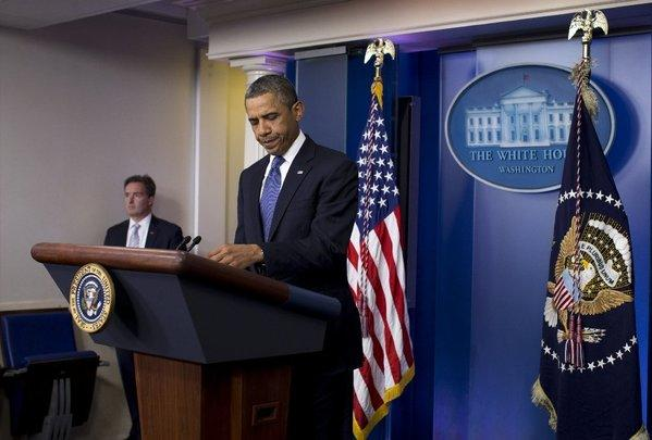 President Obama briefs reporters at the White House on 'fiscal cliff' negotiations with congressional leaders.