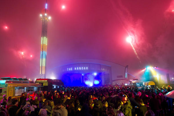 The New Year's Eve celebration at the Orange County Fairgrounds last year.