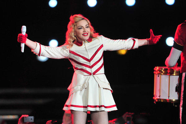 Madonna, shown on a recent tour stop in Chile, grossed just under $300 million with her MDNA tour in 2012.
