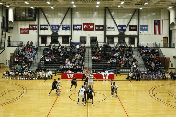 The East Catholic Eagles take on the Northwest Catholic Indians to start the game at Wesleyan University's Silloway Gymnasium Friday night.