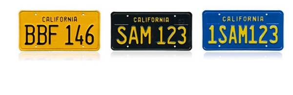 Replicas of California license plates from the 1950s, '60s and '70s may attract classic car enthusiasts — or not.