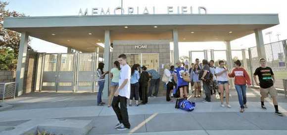 ARCHIVE PHOTO: Burbank, Bell-Jeff and Burroughs football teams were all able to play their first seasons at the renovated Memorial Field this fall.