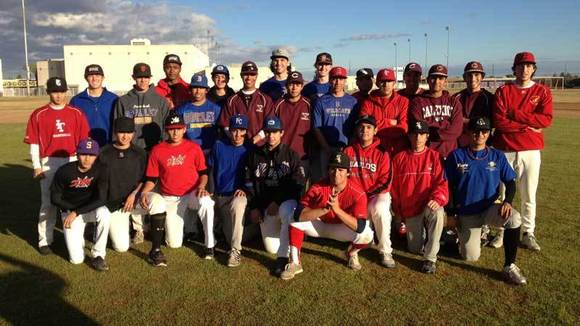 The Imperial Valley Baseball Network sponsored team.