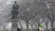 The third wet winter weather system to pass through Maryland in a week was expected to add to the young season's snow tally Saturday, but a late start and some drier air could make it difficult except in areas north and west of Baltimore. Snow was beginning to taper off southwest of Baltimore by early afternoon.