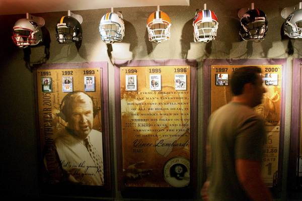 A display for the Madden NFL game, at EA Tiburon, the Electronic Arts video game development studio in Maitland, during a tour of the facility, Thursday, Aug. 5, 2010. (