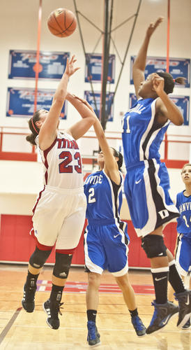 Photo Gallery: Danville girls at Mercer County basketball 122912
