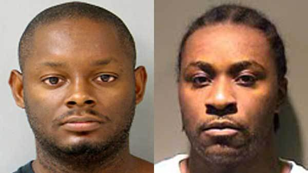 Booking photos of James Murry, left, and Travon D. McDonald