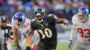 The vision of Ravens rookie running back Bernard Pierce is clearer nowadays on the football field.