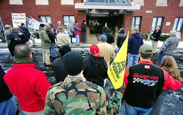 Dozens of people showed up for a pro-gun rally Saturday