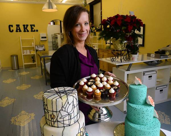Amy Cozze of Moore Township has opened Cozze Cakes, a new bakery in Nazareth specializing in wedding cakes.