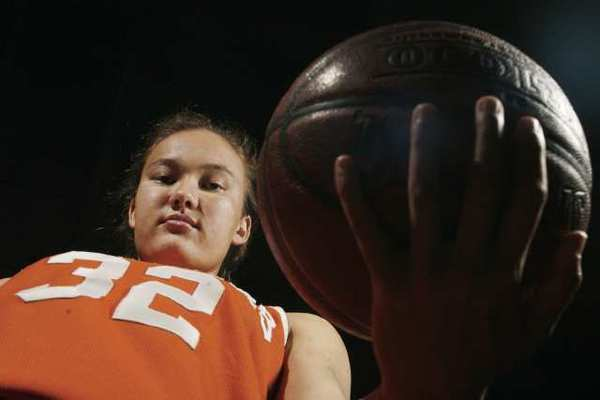 "Poly Pasadena's Michelle Miller has been playing basketball since she was four years old. She currently attends Princeton. ""I learned how to develop myself as a leader,"" she says. Miller hopes to win a game in the NCAA tournament, she adds. (Cheryl A. Guerrero/Staff Photographer)"