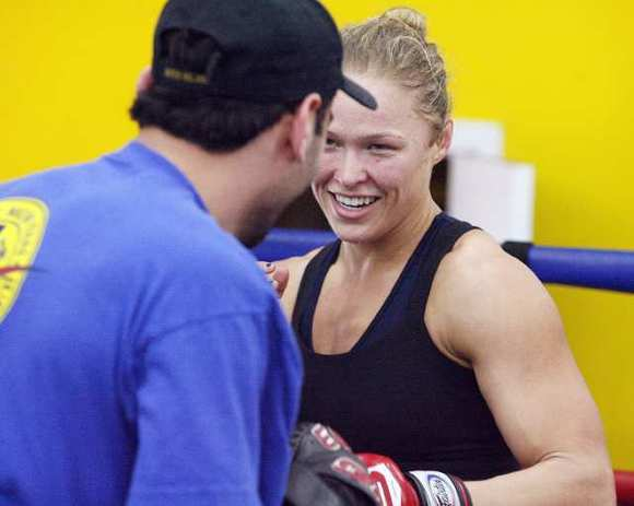Ronda Rousey, thanks to help from Glendale-based trainer Edmond Tarverdyan, climbed up the MMA ranks in 2012. (Tim Berger/Staff Photographer)