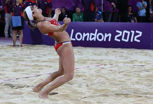 Misty May-Treanor won her third straight Olympic gold medal in London.