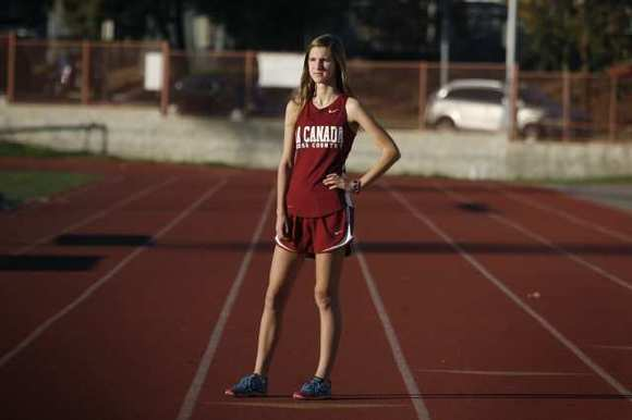 La Canada's Sonja Cwik was named the All-Area Girls' Cross-Country Runner of the Year.