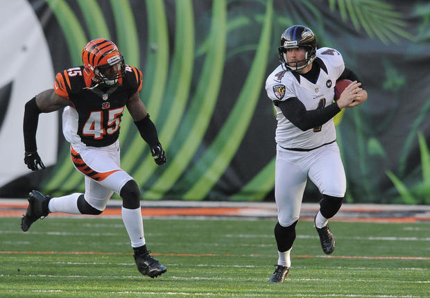 The Bengals did a good job of controlling Jacoby Jones on punt returns. Punter Sam Koch (pictured) may have had his worst day in his seven years in the league averaging 36.6 yards on seven punts. Justin Tucker was one of two on field goals.