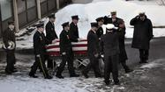 Webster, N.Y., police and firefighters have had to deal with their share of tragedy just like any first responders, but it took an act of strength to bury one of their own on Sunday.