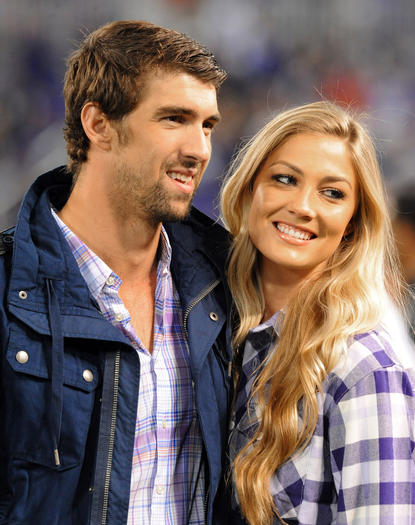 Phelps and Rossee at Ravens game