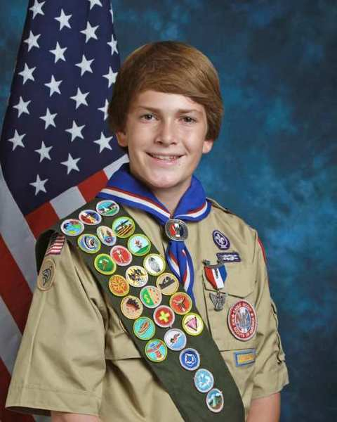 Eagle Scout Spencer Lunt
