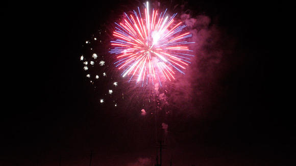 Fireworks at the Glamis sand dunes
