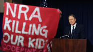 After a tragedy like the Sandy Hook Elementary School massacre in Newtown, Conn., the injection of anything short of seriousness into the subsequent public discourse about guns is touchy. But the National Rifle Association blasted numerous rounds into that particular barrier with NRA Executive Vice President Wayne LaPierre's mouth.