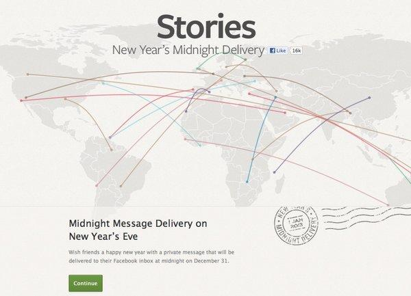 "Facebook had to take down its ""New Year's Midnight Delivery"" feature just before New Year's Day after a blogger discovered a privacy flaw."