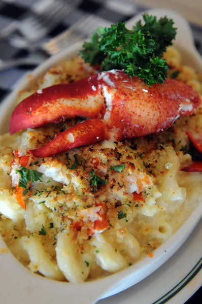 Lobster mac & cheese at Joe's Stone Crab in Miami Beach.