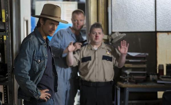 "Timothy Olyphant (left) returns as Deputy U.S. Marshal Raylan Givens at 9 p.m. Jan. 8 in FX's ""Justified."""