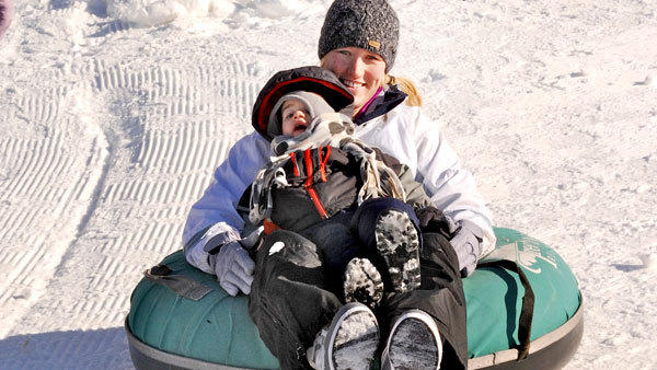 Julie Zuber, of Toledo, Ohio, and her son, Killian, enjoyed the tubing run at Treetops Resort last week following a two-day storm that dropped 18 inches in the Gaylord area. Mary Seger, PhD, GNP, recomends exercise as one of the five Es plan of beating holiday stress.