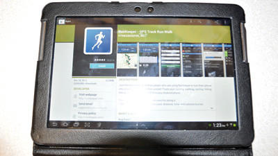 RunKeeper, as seen in the Google Play store, is one many apps that can be used to help keep a New Year's Resolution.