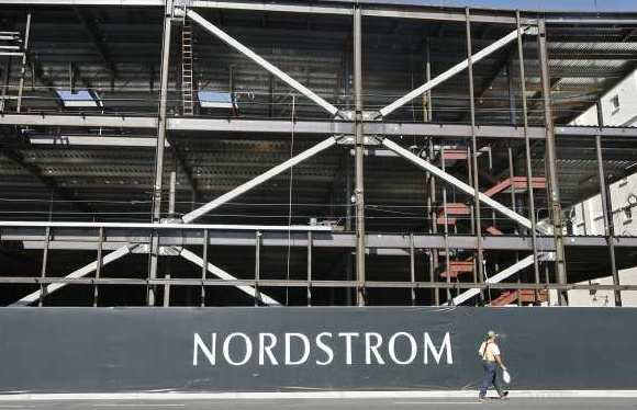 Construction continues on the new Nordstom in the Americana at Brand on Monday, October 29, 2012.