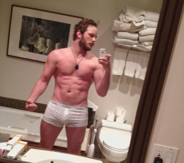 """Parks and Recreation"" star Chris Pratt showed this photo of himself after training for the film ""Zero Dark Thirty"" on TBS' ""Conan."""