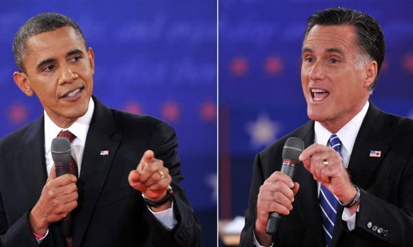 "In 2012, Washington columnist Doyle McManus predicted a ""razor close"" presidential election after President Obama's lackluster performance in his initial debate with Republican challenger Mitt Romney. Above: The candidates are seen during the second presidential debate on Oct. 16."