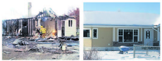 Westport house fire - then and now