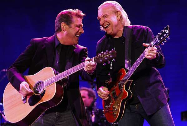 The Eagles, with Glenn Frey, left, and Joe Walsh, could be going on tour this year.