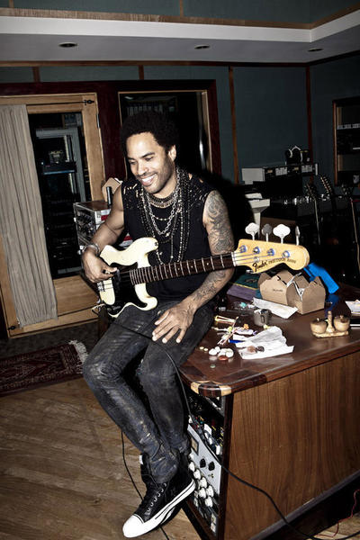 The rocker, who has a home in Miami, spent some time in the studio on New Year's Eve.