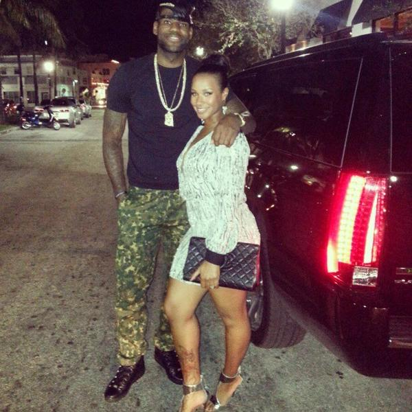 The Miami Heat champ and his sweetie Samantha Brimson hung out in Miami Beach