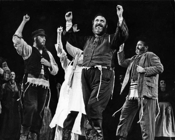 "Zero Mostel in ""Fiddler on the Roof."""