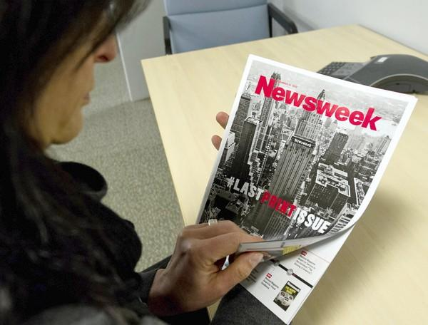 The final hard-copy edition, dated Dec. 31, 2012, of Newsweek ends the 80-year print run of the weekly news magazine.