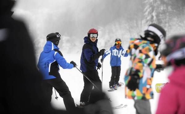 Skiers and snowboarders enjoy the day at Blue Mountain Ski Area in Towamensing Township.