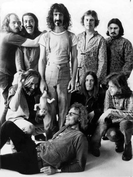 The Mothers of Invention in 1968 with Ray Collins at far left and Frank Zappa, center.