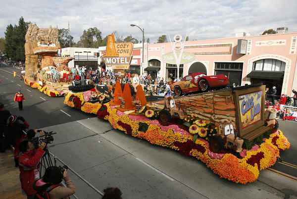 The Disneyland Resort float at the 2013 Rose Parade in Pasadena on January 1, 2013.