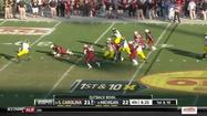 Jadeveon Clowney's big hit at the Outback Bowl