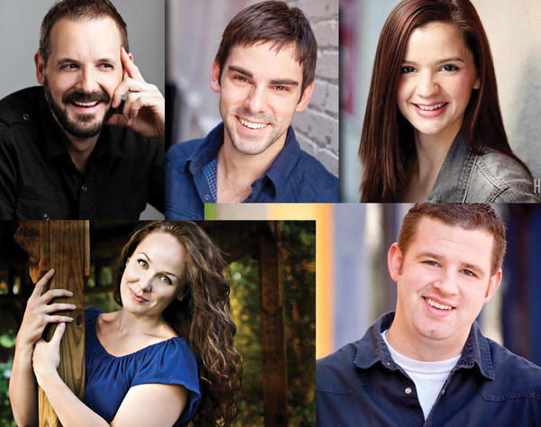 "The cast of SAK's ""Better Days"" includes Will Hagaman(clockwise from top left), Chris Dinger, Ana Eligio, Mike Carr and Jennifer Bonner."