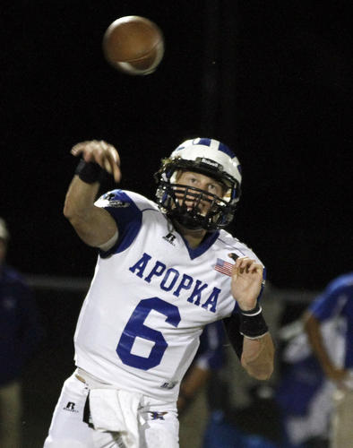 Offensive Player of the Year QB Zach Darlington Apopka, 6-1, 190, Jr.