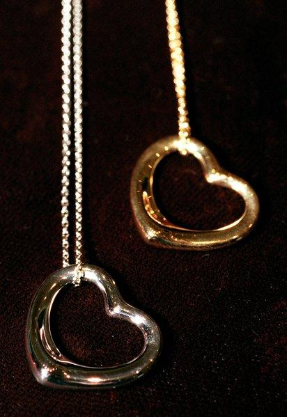 Tiffany extended its agreement with Italian jewelry designer Elsa Peretti, whose creations include these platinum and gold hearts.