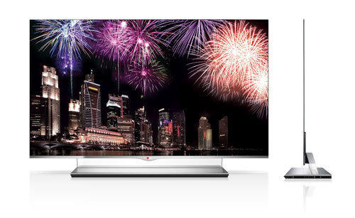 LG plans to start selling Thursday the first big-screen TV with OLED technology for about $10,000 apiece.