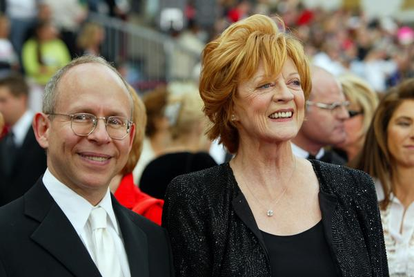 """Gosford Park"" costars Bob Balaban and Maggie Smith arrive at the 74th Academy Awards at the Kodak Theatre on March 24, 2002."