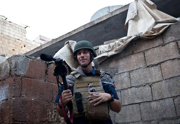 A picture taken last year Aleppo, Syria, shows American freelance reporter James Foley, who was reported missing.
